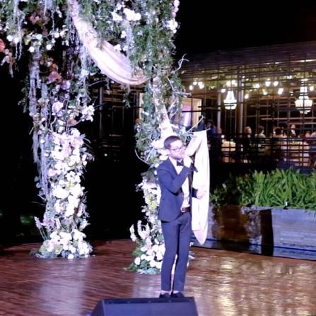 Josh Kaufman (The Voice US 2014) accompanied by Ricky Lionardi Chamber Orchestra in Wilson Pesik & Vania Larissa Wedding Reception
